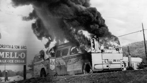 Burning Bus - Freedom Riders - Anniston - 1961